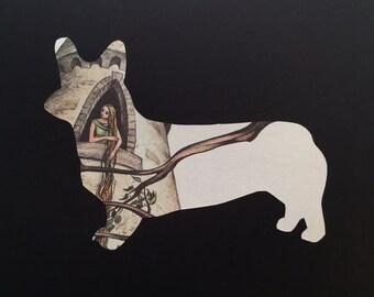 Raiponce - Corgi chien Silhouette