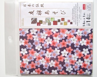 "15 ""variety"" 14 cm x 15 chiyogami origami paper sheets"