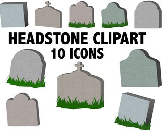 GRAVESTONE CLIPART - halloween clipart tombstone clipart Cemetery Goth clipart, headstone scrapbook, Halloween scrapbook Halloween decor