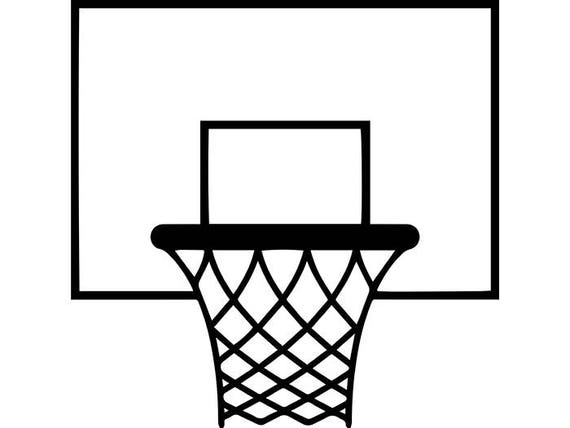 basketball hoop 7 backboard goal rim basket ball net sports rh etsy com basketball hoop clipart black and white basketball hoop clipart images