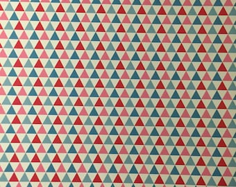 Sheet A4 glossy light colored pattern - multicolored triangles