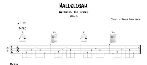 Fancy Hallelujah Chords Guitar Composition Beginner Guitar Piano