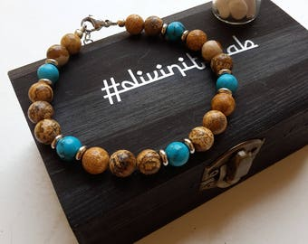 Bracelet in small town and turquoise Pasta