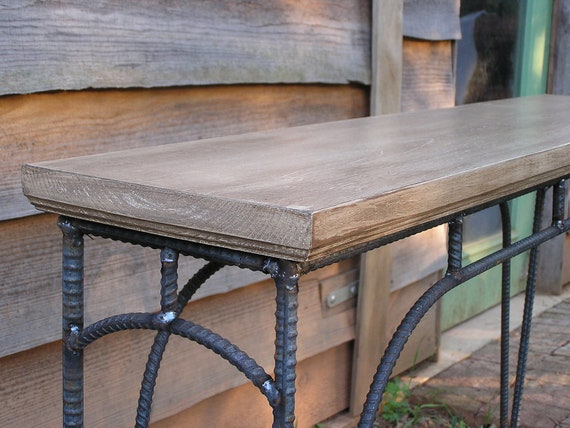 Custom Rustic Industrial Coffee Table Sofa Table Side Table