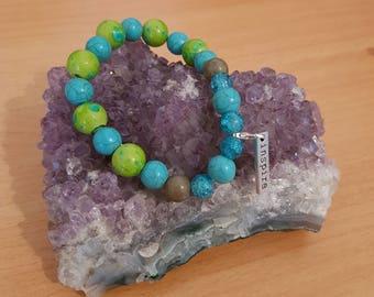Inspire charm bracelet ~ 8mm beads