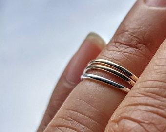 Simply Skinny Stacking Fingertip Rings - Set of Three