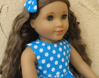 American girl Doll Dress with Headband