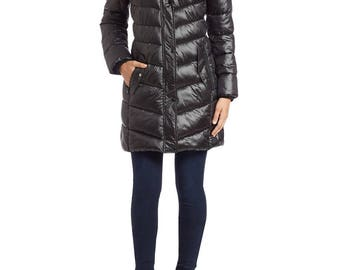 Bernardo Faux Fur Hooded Coat (Small)
