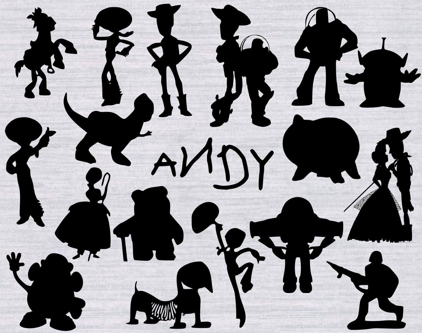 Design Space Software Download Toy Story Svg Bundle Toy Story Clipart Toy Story Silhouette