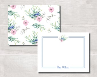 Flat Note Cards, Bluebird