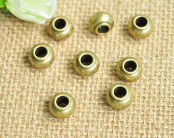 10pcs Antique Bronze Beads Charms Spacer Bead 11mm MM365