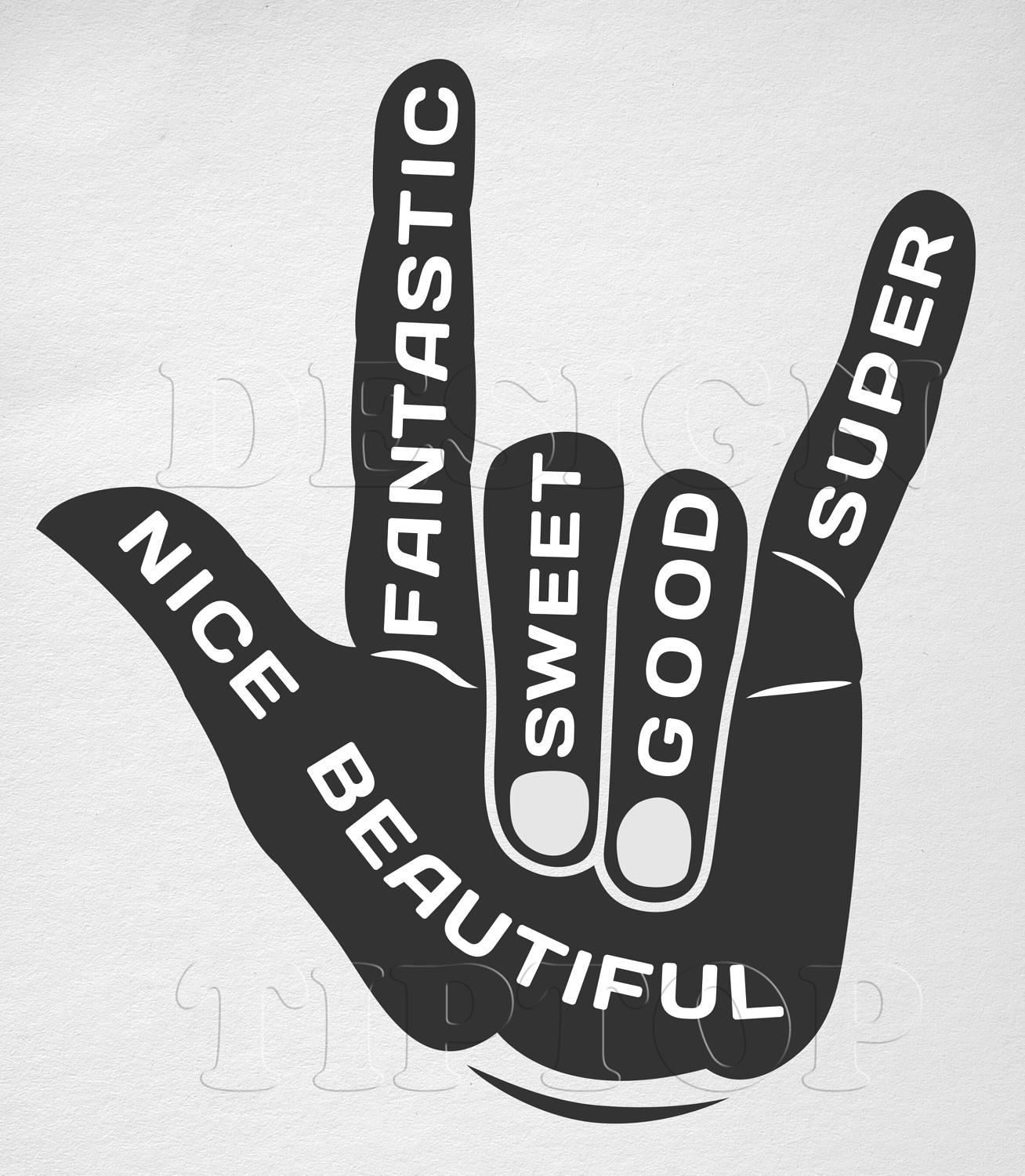 Hand SVG, hand sign svg, quote svg, hand silhouette, finger svg ...