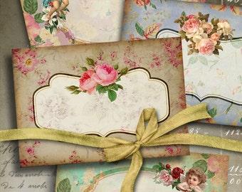 Printable Images VICTORIAN VIGNETTES No.1 Digital Collage Sheet Greeting cards Vintage Labels Scrapbooking decoupage paper ArtCult graphics