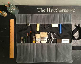 Tool Roll, Pencil Case, Pencil Roll, Personalized wrap case with notebook, Paintbrush Rollup, Roll-up, Paintbrush roll, Art Tool Roll