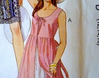 Flirty Sun Dress w Underskirt Pattern McCalls 8157 Bust 12 to 16 UNCUT