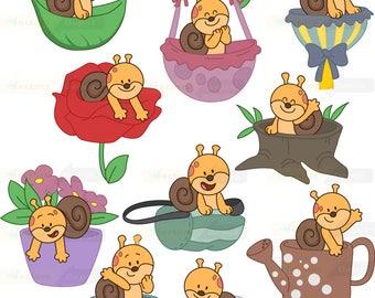 Cute Snail clipart,Cute Snail clipart commercial use,vector graphics,digital clip art,Instant download,animals clipart, animal clip art