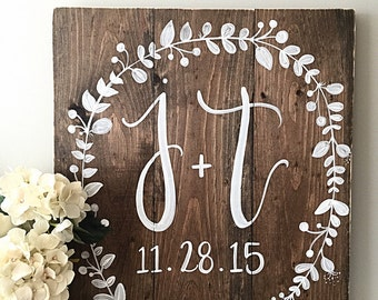 Wedding Decor | Monogram Wedding Sign | Established Date | Home Decor | Wood Sign | Wood Wedding Signs | Rustic Wedding Decor | Initials