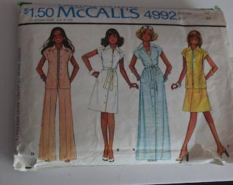 Carefree Mccalls vintage sewing pattern 4992 size 12