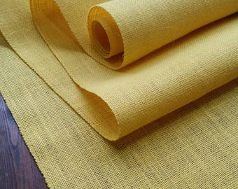 16 inch Burlap Runner - Yellow - Ivory - Beige - Natural - Gold - Brown - Daffodil