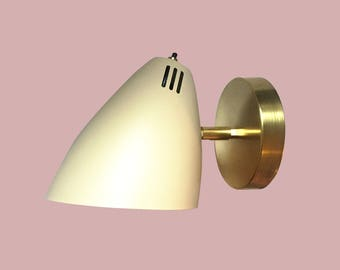 Wall Sconce • Los Feliz • Modern Wall Sconce • Brass Modern Light • Brass Wall Lamp • Mid Century Modern Sconce • Danish Modern Wall Light