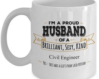 Gift for Civil Engineer, Civil Engineer Mug, Civil Engineer Gifts, Husband Coffee Mug,Birthday Gift,Anniversary Gift, Husband Gift