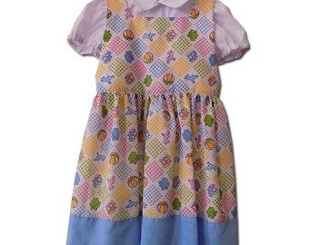 Handmade Toys Print Retro Dress. Size 4T.