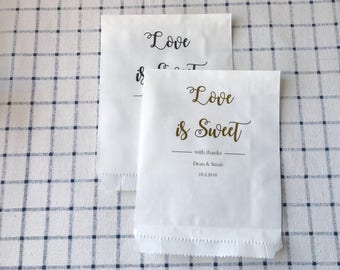24pcs personalised white paper favour bags wedding birthday party baby shower Easter christening baptism gift bags any text custom foil bags