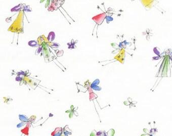 Michael Miller Little Fairy's Fabric C79_WHITE FAIRY . 12 Yards