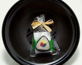 Sushi Wedding Favors Japanese Party Favors Sushi Bridal Shower Asian Theme Sushi Favors Triangle Black and White Sushi Engagement Party