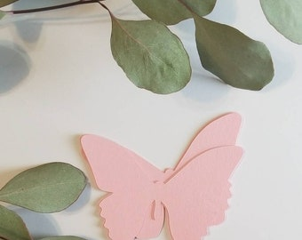 PAPER BUTTERFLYS- Any Size- Any color- Confetti- Cupcake Toppers-1st Birthday-Baby Shower-Tea Party and more
