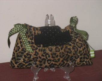 Leopard Ribbon Clutch for Bridesmaids or Prom by fanibags on Etsy
