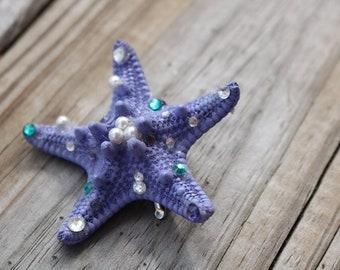 Purple Little Mermaid Inspired Starfish Hair Clip