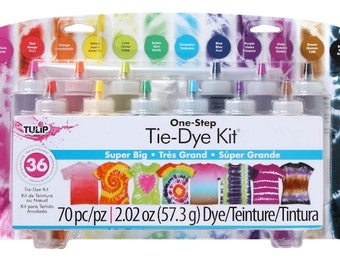 One-Step 12 Color Tie-Dye Kit Super Big - Perfect for small parties, family fun and other group activities - Arts & Crafts Supplies