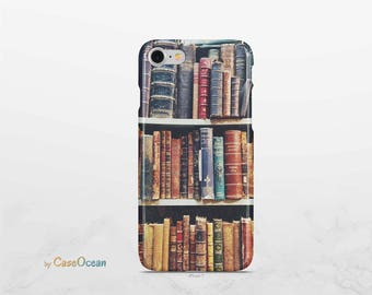 BOOK phone case, iPhone X 8 7 6 6s Plus phone case iPhone SE 5 5s phone case Samsung Galaxy Note8 S8 Plus S7 Edge S6 vintage book phone case