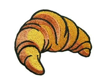 Croissant Food Embroidered Applique Iron on Patch