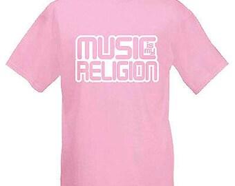 Music is my religion festival mens t shirt 12 colours  size s - 3xl