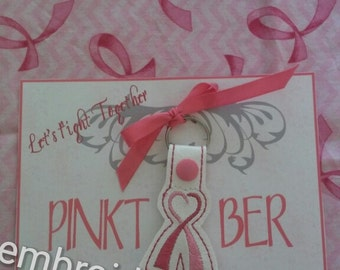 Breast cancer awareness key fob