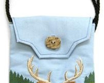 White-Tailed Deer Embroidered Purse