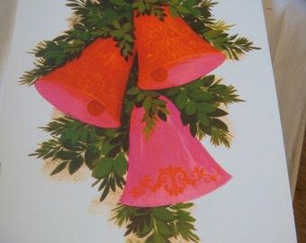 Vintage Hallmark Diecut Christmas Home Decoration Book Festive Bells Candles Wreath