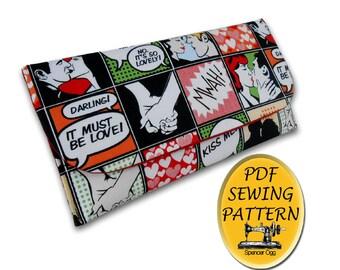 PDF bag Pattern. Clutch bag pattern