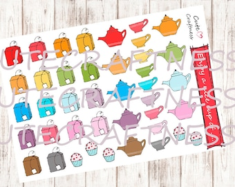 Tea time teatime planner stickers