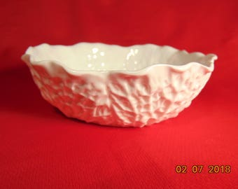 """One (1), 5 1/2"""", Coupe Cereal Bowl, from, Spode China, of England, in the Savay White (no trim) Pattern."""