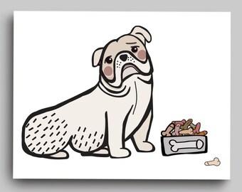 ball dog. blank penis pun card.