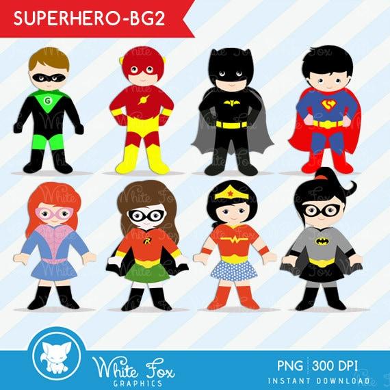 50 off sale teacher clip art 1 free superhero classroom rh etsy com Superhero Clip Art for Classroom free superhero clipart images