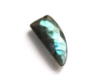 Labradorite loose gemstones 15.20 carats 12x30 mm for Semi Precious briolette  faceted Cut Gemstone for Jewellery
