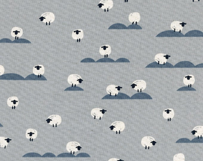 PRESALE: Sheep (in Newspaper) from Panorama Cloud by Melody Miller and Sarah Watts for Cotton + Steel