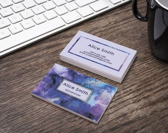 Editable Business Card Template, Premade Printable Business Card Design, Custom Business Card, Digital Download (Alice collection 07)