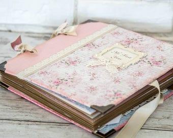 Baby Scrapbook First year album, Baby memory book, Baby photo album, Newborn girl gift, Baby shower gift, Baptism gift, Expecting baby gift