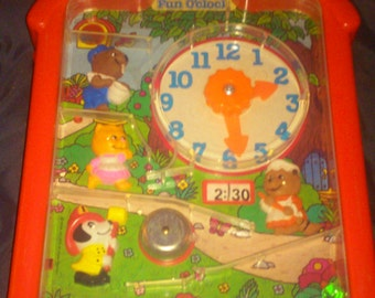 Mattel FUN O'CLOCK vintage pre-school activity toy 1976