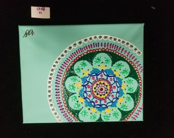PUFF PAINT MANDALA #16